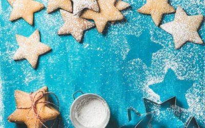 Kalorienarme vegane Plätzchen in der Weihnachtsbäckerei