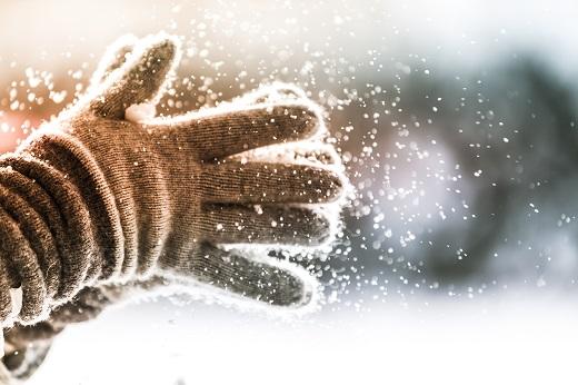 Handschuhe im Winter